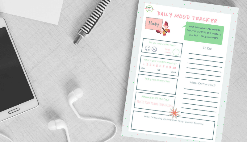 Daily Mood Tracker Digital Download